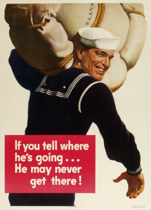 Loose Lips Might Sink Ships USA Military Vintage Poster